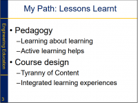 Dr Greg Evans - My Path of Lessons Learned about Teaching